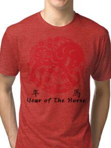 Year of The Horse Papercut Tri-blend T-Shirt
