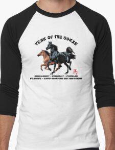 Chinese Zodiac Year of The Horse Men's Baseball ¾ T-Shirt