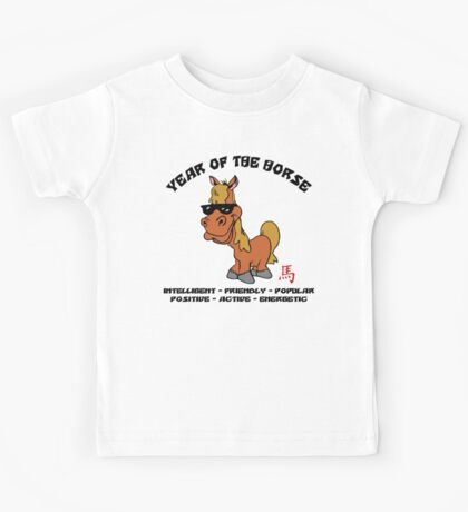Funny Year of The Horse Kids Tee