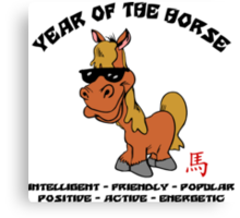 Funny Year of The Horse Canvas Print