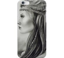 The Feathered Girl iPhone Case/Skin