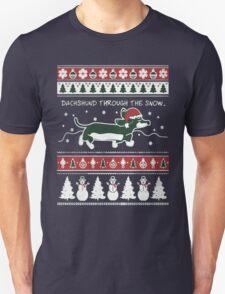 dachshund xmas-Dachshund through the snow T-Shirt