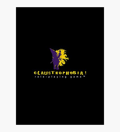 Claustrophobia! Role-Playing Game Logo Photographic Print