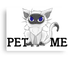 Fluffy Cat - Pet Me Canvas Print