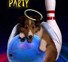 Bowling Party Sheltie Puppy by jkartlife