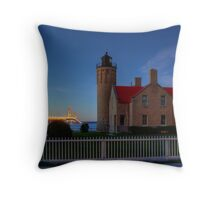 Old Mackinac Point Lighthouse Throw Pillow