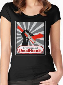 From my cold, dead hands! Women's Fitted Scoop T-Shirt