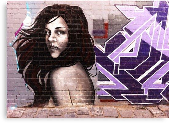 Melbourne Graffiti by Aida by Roz McQuillan