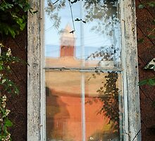 Barn Reflection in a Farmhouse Window by Studio-one