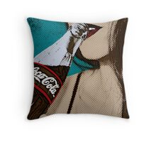 Comic Book Cola Throw Pillow