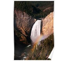 Rainbow at Lower Falls - Yellowstone National Park Poster