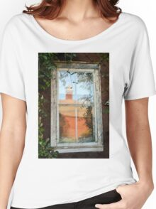 Barn Reflection in a Farmhouse Window Women's Relaxed Fit T-Shirt