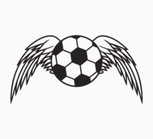 Soccer Ball Angel Wings Design by Style-O-Mat