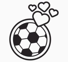 I Love Soccer Ball Hearts Logo by Style-O-Mat