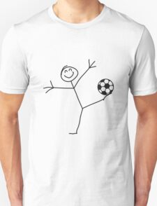 Funny Soccer Goal Shot Stick Figure T-Shirt