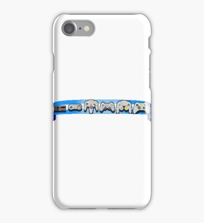 VideoGame Controllers (blue) iPhone Case/Skin