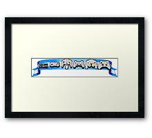 VideoGame Controllers (blue) Framed Print