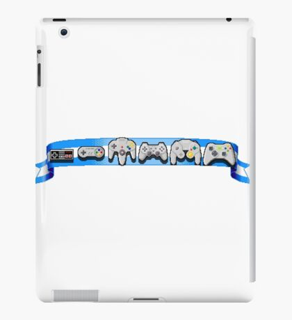 VideoGame Controllers (blue) iPad Case/Skin