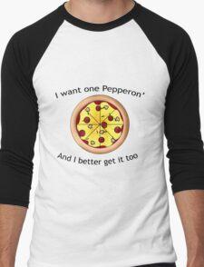 Dunkey: Pepperoni Men's Baseball ¾ T-Shirt