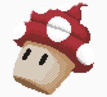 8Bit Mushroom Cupcake Kids Tee