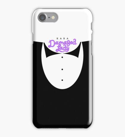 Damaged Lady (Purple) iPhone Case/Skin