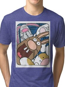 Awesome Bunny Photobooth #4 of 4 Tri-blend T-Shirt