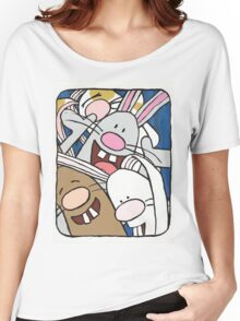 Awesome Bunny Photobooth #1 of 4 Women's Relaxed Fit T-Shirt
