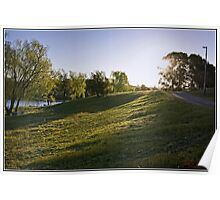 Sunset on Lake Burley Griffin, Canberra Poster