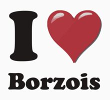 I Heart Borzois by HighDesign