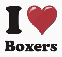 I Heart Boxers by HighDesign