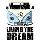 VW Camper Living The Dream Pale Blue by splashgti