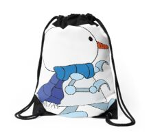 Snow bot Drawstring Bag