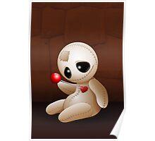 Voodoo Doll Cartoon in Love Poster