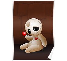 Voodoo Doll Cartoon in Love Poster