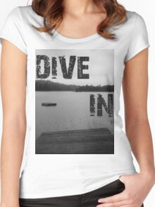Dive In Women's Fitted Scoop T-Shirt