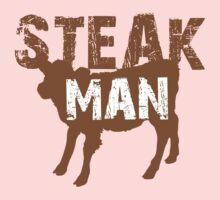 Steak Man with little cow Kids Tee