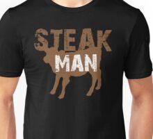 Steak Man with little cow Unisex T-Shirt