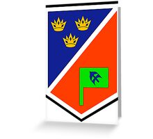 1 Brigade Headquarters patch Greeting Card