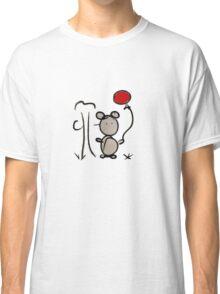 Ours avec ballon rouge Classic T-Shirt