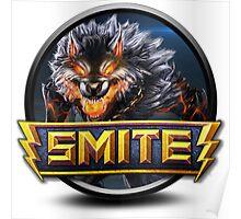 Smite Fenrir Logo Poster
