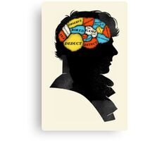 Sherlock Phrenology Canvas Print