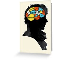 Sherlock Phrenology Greeting Card