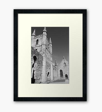church ruins Framed Print