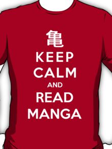 Keep Calm And Read Manga T-Shirt