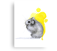 Hamster Watercolour Canvas Print