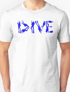 DIVE WITH DIVERS IN BLUE T-Shirt