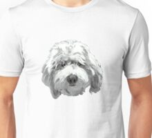 Lucky Labradoodle Face ~ Black and white Unisex T-Shirt
