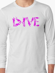 DIVE WITH DIVERS IN PINK Long Sleeve T-Shirt