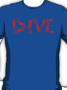 DIVE WITH DIVERS IN RED T-Shirt