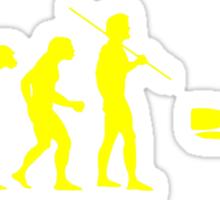 Evolution to Scuba Diver YELLOW Sticker